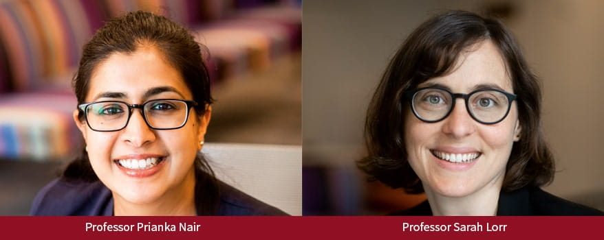 Professors Prianka Nair and Sarah Lorr Lead Disability and Civil Rights Clinic